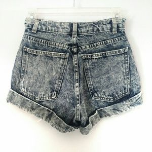 American Apparel acid high waist distressed shorts